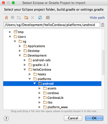 Please select android sdk android studio