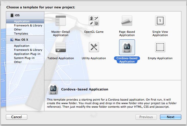 Install the iOS SDK and Apache Cordova