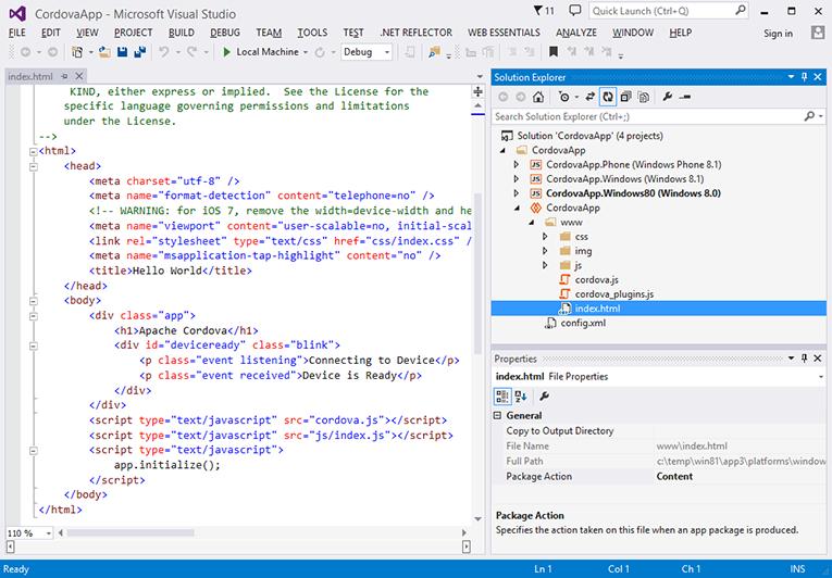 Windows Platform Guide - Apache Cordova