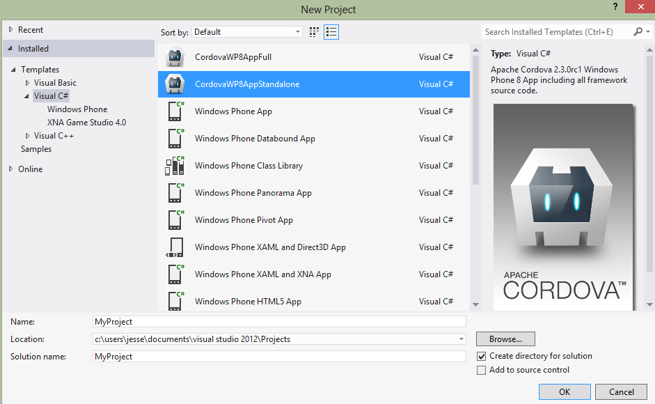 Windows Phone 8 Platform Guide - Apache Cordova